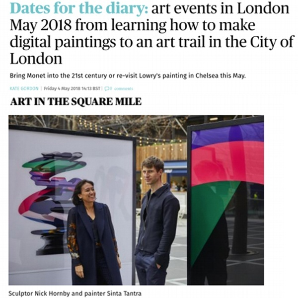 Dates for the diary: art events in London May 2018