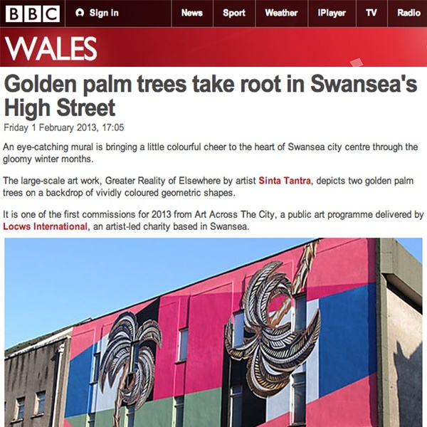 Golden Palm Tree Takes Root in Swansea's High Street