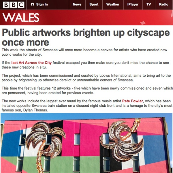 Public artworks brighten up city once more