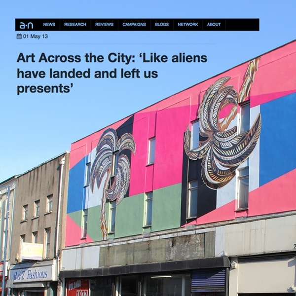 Art Across the City: 'like aliens have landed and left us presents'