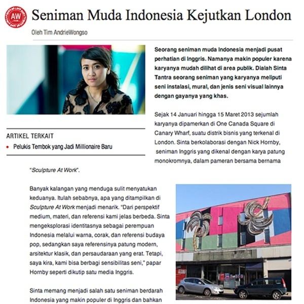 Seniman Muda indonesia Kejuktan London