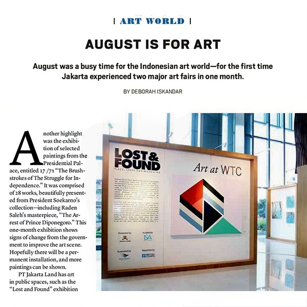 August is for Art: Sinta Tantra